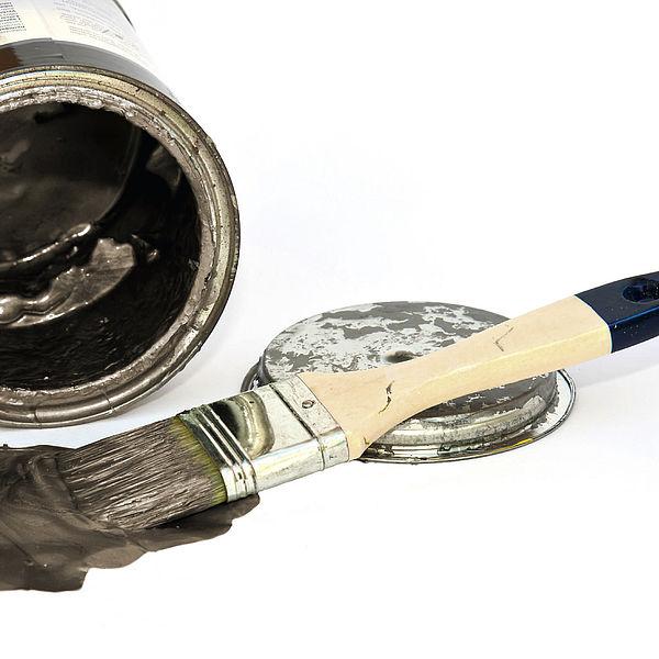 Чистка инструментов после нанесения лессировки